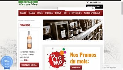 Site internet de Cave Vins sur Vins