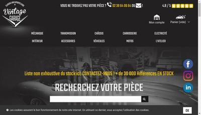 Site internet de Vintage Garage SARL