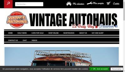 Site internet de Vintage Autohaus