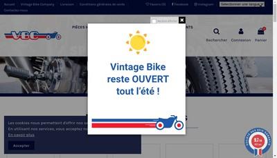 Site internet de Vintage Bike Company