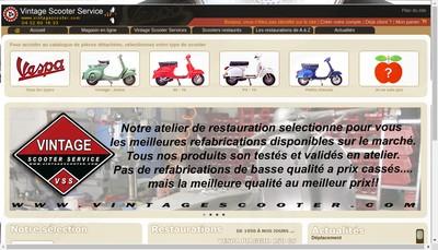Site internet de Vintage Scooter