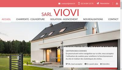 Site internet de SARL Viovi Charpente Couverture