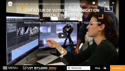 Site internet de Vip Studio