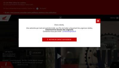 Site internet de Vip Moto
