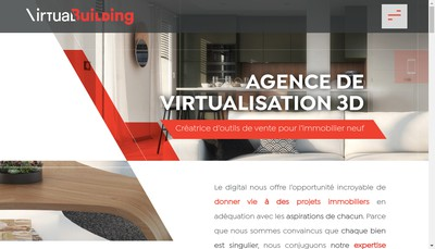 Site internet de Virtual Building