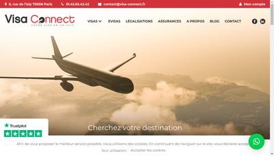 Site internet de Visa Connect