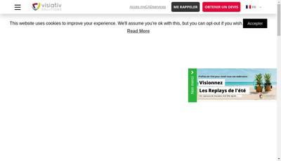 Site internet de Visiativ Solutions