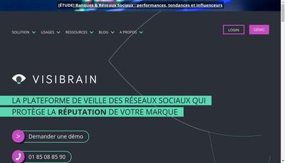 Site internet de Visibrain