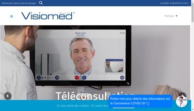 Site internet de Visiomed Group