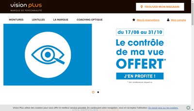 Site internet de Vision Plus