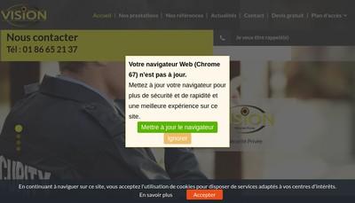Site internet de Vision Securite