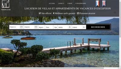 Site internet de Vision Luxe