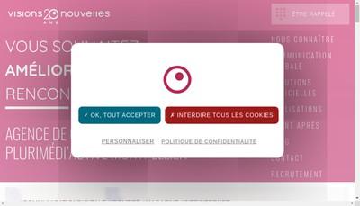 Site internet de Visions Nouvelles