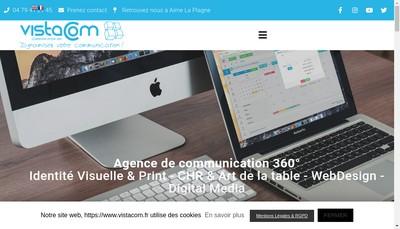 Site internet de SARL Vistacom
