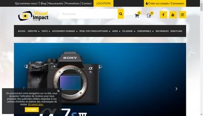Site internet de Visual Impact France