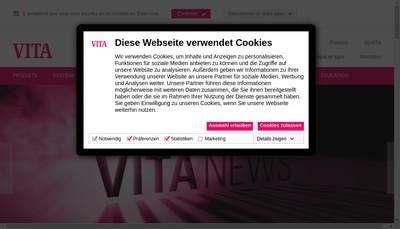 Site internet de Vita Zahnfabrik H Rauter Gmbh Und Co