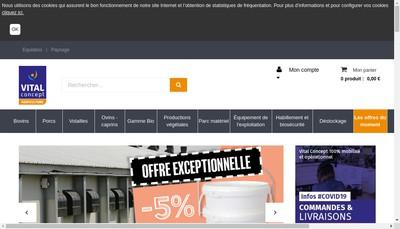 Site internet de Vital Concept