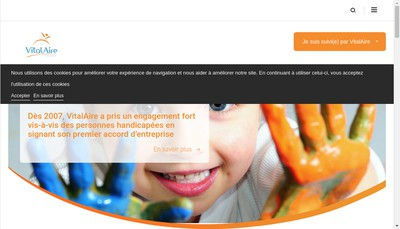 Site internet de Vitalaire