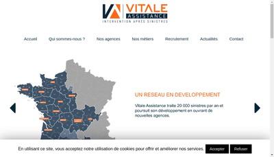Site internet de Vitale Assistance