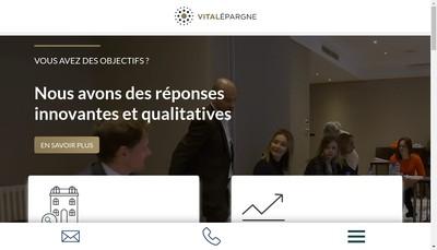 Site internet de Vitalepargne