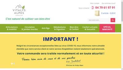 Site internet de Vitalys Sante
