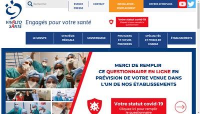 Site internet de Vivalto Sante Investissement