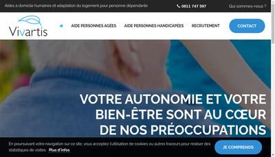 Site internet de Vivartis