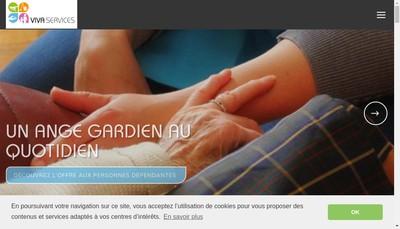 Site internet de Vivaservices Rive Gauche