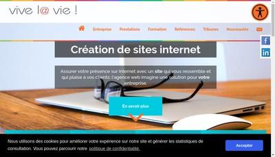 Site internet de Vive la Vie