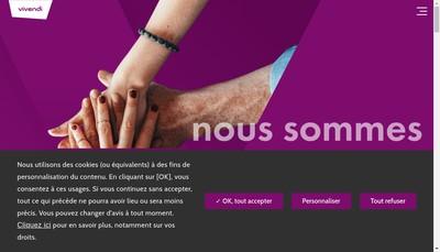 Site internet de Vivendi Se