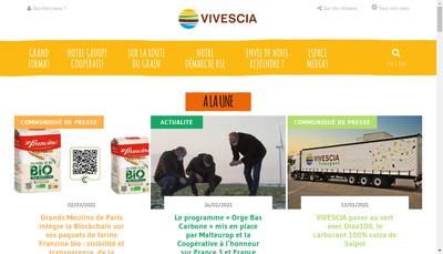 Site internet de Vivescia Transport