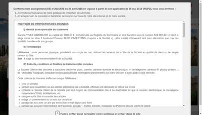 Site internet de Vives Immobilier