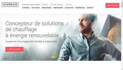 Site internet de Vivreco Heat Pumps