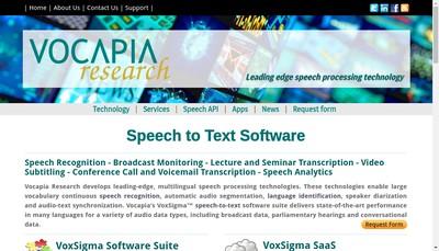 Site internet de Vocapia Research
