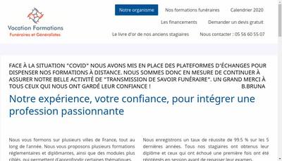 Site internet de Vocation Formations Fg