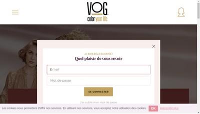Site internet de Vog Coiffure
