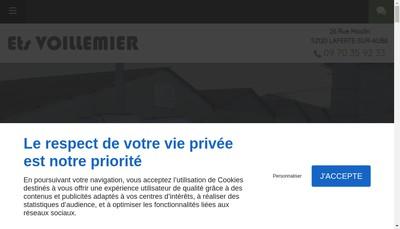 Site internet de EURL Etablissements Voillemier