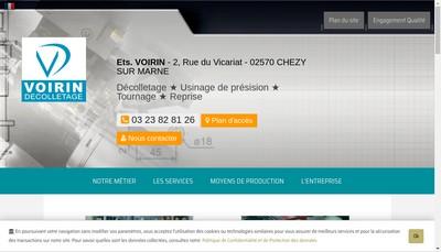 Site internet de Voirin Pere et Fils de Gestion