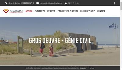 Site internet de Voisin Constructions