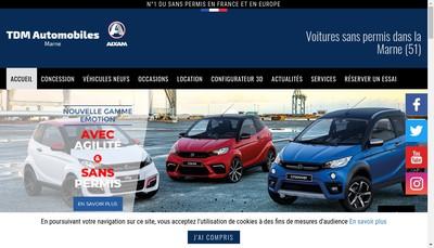 Site internet de Tdm Automobiles