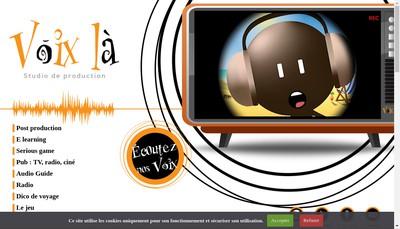 Site internet de Voix la Production