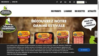 Site internet de Les Eleveurs de la Champagne