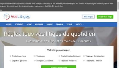 Site internet de VosLitiges