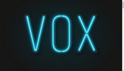 Site internet de Vox