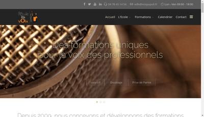 Site internet de L'Ecole de la Voix