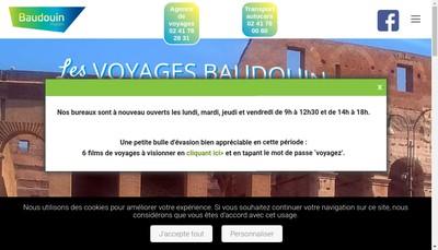Site internet de Voyages Baudouin