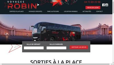Site internet de Societe des Transports Robin