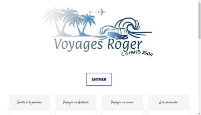 Site internet de Voyages Roger