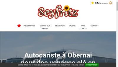 Site internet de Tourisme et Voyages Seyfritz