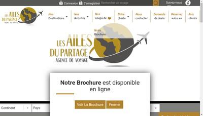 Site internet de Les Ailes du Partage
